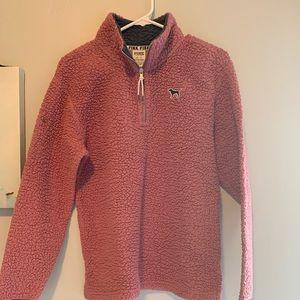 Pink Sherpa 1/4 zip